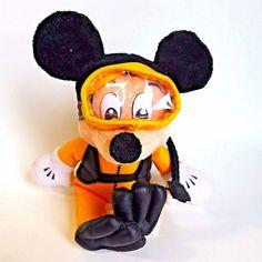 Walt Disney World Diving Mickey Mouse Plush Toy Scuba Diver Bean Bag Doll  #WaltDisney