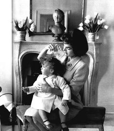 Jacqueline and Caroline Kennedy - Georgetown, 1959