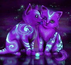 Purple kittens via www.Facebook.com/PurpleIsWho