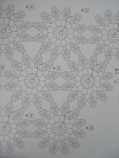 Japanese crochet flowers pattern La fameuse étole japonaise....