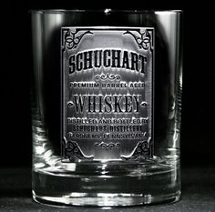 Whiskey Bottle Label Personalized Rocks Glass by crystalimagery, $26.00