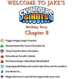 Skylands and Beyond: Skylanders Party: Pinterest-Inspired DIY by the Elements