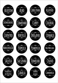 Chimichurri, Creative Crafts, Diy And Crafts, Cake Logo Design, Kitchen Labels, Spice Labels, Easy Home Decor, Apartment Interior, Sweet Home
