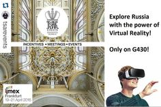 An awesome Virtual Reality pic! Dear Friends Future is here! Lets meet at IMEX Frankfurt! TSAR EVENTS @tsarevents have prepared for you an activity that NO Russian DMC have ever done before. Now you can see our unique programs with the power of VIRTUAL REALITY! Stop by our stand during IMEX to experience it  #imex16 #Russia #tsarevents #specialevents  #stpetersburg #Moscow #travel #eventprofs  #virtualreality #catering #Россия #Москва #санктпетербург #Frankfurt #Germany  #imex2016  #helmet…