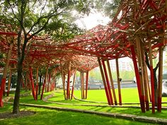 Jingan Sculpture Park. Shanghai, China // potential destination for our 24 hours in Shanghai!