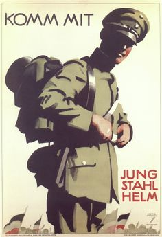 Ludwig Hohlwein (1874-1949) poster illustrator and designer. This poster encourages  youth to join the Stalhelm youth organization.