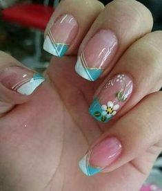 Nail Art Ideas For Spring Design Nailart 49 Ideas Cute Nails, Pretty Nails, My Nails, French Manicure Nails, French Nails, Trendy Nail Art, Cool Nail Art, Zebra Print Nails, Flower Nail Art
