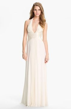 BCBGMAXAZRIA+'Anitra'+Satin+&+Jersey+Halter+Gown+available+at+#Nordstrom