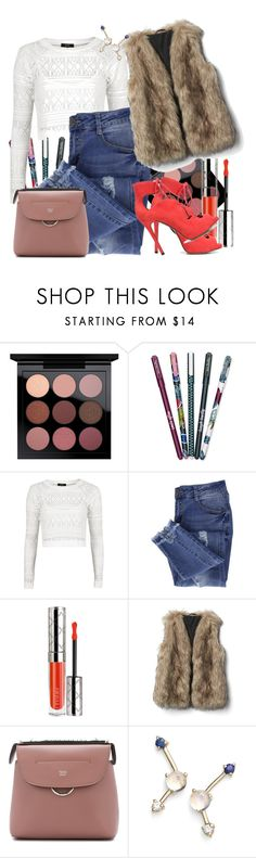 """""""fur, jeans, & lace"""" by spiceandsugar ❤ liked on Polyvore featuring Vera Bradley, Goldie, Essie, By Terry, Fendi, WWAKE and Tabitha Simmons"""