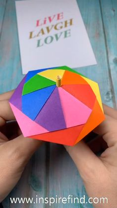 Lovey colorful unbrella papercrafts paperdiy handmadecrafts paperart diy earrings supplies and easy instructions! Paper Flowers Craft, Paper Crafts Origami, Paper Crafts For Kids, Diy Paper, Paper Crafting, Origami Flowers, Origami Gifts, Diy Crafts Hacks, Diy Crafts For Gifts