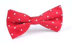 Red with White Polka Dots Bow Tie by OTAA | Australian Designer Bow Ties | Handmade Men's Accessories | Pre-Tied Bowties | Shop Online | Shipping World Wide | www.otaa.com.au | OTAA