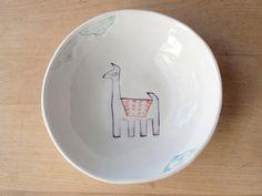 llama bowl by villarrealceramics on Etsy