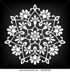 Abstract circle floral ornamental decor. Mandala. Vector Illustration.