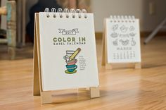 For coloring | 17 Coolest Calendars For 2017