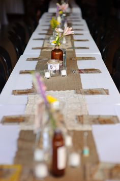 Add some burlap to your holiday table for a warm and cozy feel. | shop supplies @joannstores