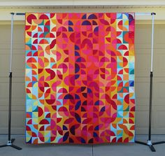 Is it possible to be thrilled to have finished a quilt, but be so tired of working on it that you almost don't like it anymore? Quilt Border, Quilt Top, Ribbon Quilt, Scrappy Quilts, Patchwork Quilting, Quilting Designs, Quilt Design, Quilting Ideas, How To Finish A Quilt