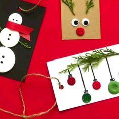 Christmas Ornament Crafts, Diy Christmas Cards, Christmas Crafts For Kids, Christmas Projects, Kids Christmas, Handmade Christmas, Holiday Crafts, Christmas Decorations, Diy Christmas Village
