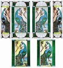 Silver Creek Peacock Bird Art Glass Suncatcher & Chain ~ Zinc Frame ~ 9…