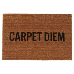 Carpet Diem Doormat