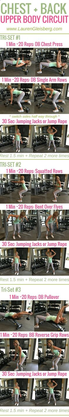 Week 2 Day 5 | Gym Version | Chest Back Upper Body Circuit | #LGFitmas Lauren Gleisberg