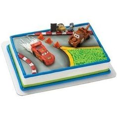 Top your Disney Cars Birthday Cake with this Cars McQueen and Mater Cake Deco Set. This cake decorating set includes both Lightning McQueen and Mater. Pixar Cars Birthday, Cars Birthday Parties, Cool Birthday Cakes, 21st Party, Birthday Ideas, Disney Party Foods, Lightning Mcqueen Cake, Toy Story Cakes, Birthday Cards For Boyfriend