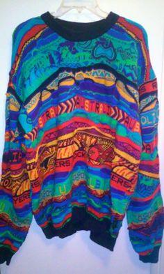 COOGI Australia Soul Hip Hop Cosby Sweater Mens 3D Size Large   eBay