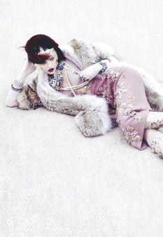 Sasha Pivovarova/Vogue Italia October 2009