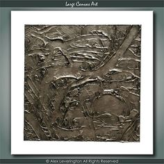 ORIGINAL Champagne Gold Heavy Textured Abstract by LargeCanvasArt, $125.00