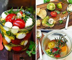 Kräuter einlegen- Tomate Mozzarella mal anders