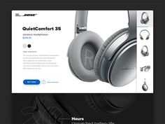 Online store for Bose QuietComfort 35 by Jakub Sodomka #Design Popular #Dribbble #shots