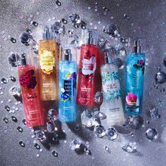 Diamonds are a girl's best friend! Wrap up April birthday gifts inspired by your bestie's birthstone! Bath N Body Works, Bath And Body Works Perfume, Perfume Body Spray, The Body Shop, Victoria Secret Fragrances, Fragrance Mist, Body Mist, Hand Lotion, Smell Good