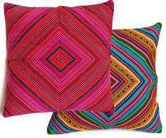 PERUVIAN CUSHION COVER throw pillow Peruvian ethnic by k9feline