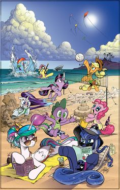 MLP Day at the Beach by Anyd Price andypriceart.deviantart.com on @DeviantArt