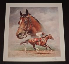 """""""Cigar"""" - Collectible Race Horse & Equine Art Prints By Fred Stone"""
