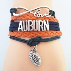 Infinity Love Auburn Football - Show off your teams colors! Cutest Love Auburn Bracelet on the Planet! Don't miss our Special Sales Event. Many teams available. www.DilyDalee.co