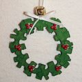 Recycled Christmas Tree Ornaments: Puzzle Piece Ornaments