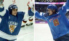 Teemu Selanne at his first and last Olympic games (via hockeytard / Tumblr)