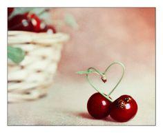 Photography on WOOD Heart Cherry Fine art by AylilAntoniu on Etsy