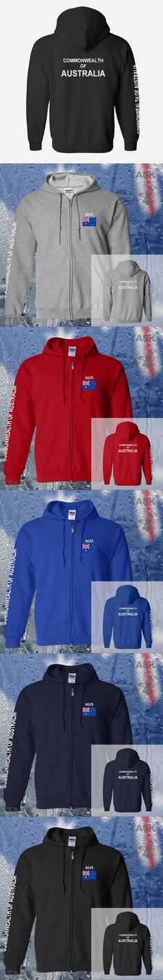 Australia AUS Australian mens hoodies and sweatshirt jerseys polo sweat new streetwear tracksuit nations fleece zipper Aussie