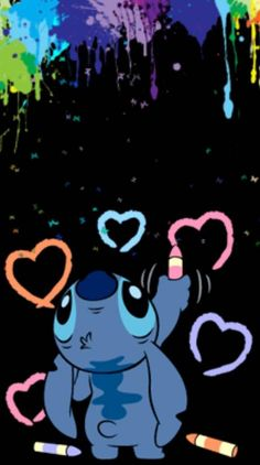 Stitch paint wallpaper by - 55 - Free on ZEDGE™ Cartoon Wallpaper Iphone, Disney Phone Wallpaper, Cute Cartoon Wallpapers, Stitch Tumblr, Lilo And Stitch Quotes, Lelo And Stitch, Pinturas Disney, Cute Disney Drawings, Stitch And Angel