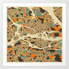 Buy Stockholm MAP by Jazzberry Blue as a high quality Art Print. Worldwide shipping available at Society6.com. Just one of millions of products available.