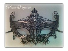 BlackClear Devious Masquerade Mask  Venetian by DelicateDisguise, $26.99