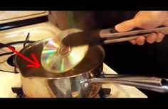 WATCH: These CDs Get Thrown Into A Pot Of Boiling Water And Transform Into Something Beautiful.