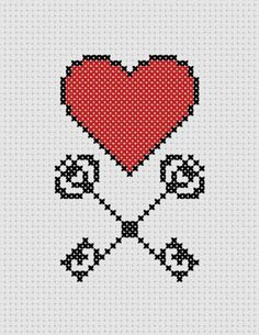 Heart of Arms Printable Cross Stitch Pattern PDF by ThatsSewEllie, $2.00