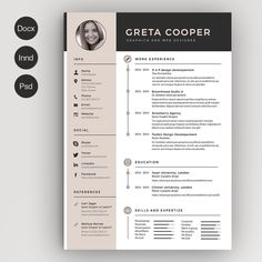 Clean Cv-Resume II by Estartshop on Creative Market