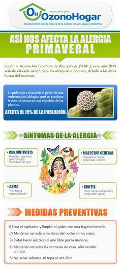¿Porqué tenemos #alergia al #polen? ¿Cómo podemos evitar las #alergias en nuestro hogar? Interesante infografía con las claves para prevenir las alergias