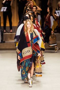 Initialed Poncho's we can get into. Burberry Prorsum Fall 2014 Ready-to-Wear Collection