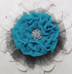 Flower Fabric Brooch