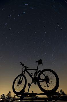 Mountainbike mit Polarstern / Sterne / Der Himmel / Galerie | Nies.ch Sehun, Sky, Pictures, Light Pollution, Pole Star, Heavens, Stars, Heaven
