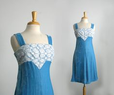 1960s crushed  velvet baby blue a-line little by TheArborVitae